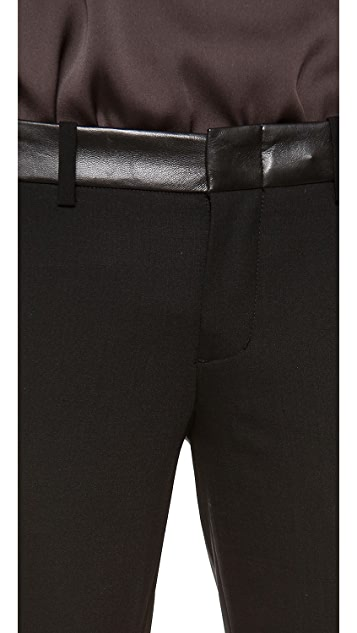 Vince Leather Waist Strapping Trousers