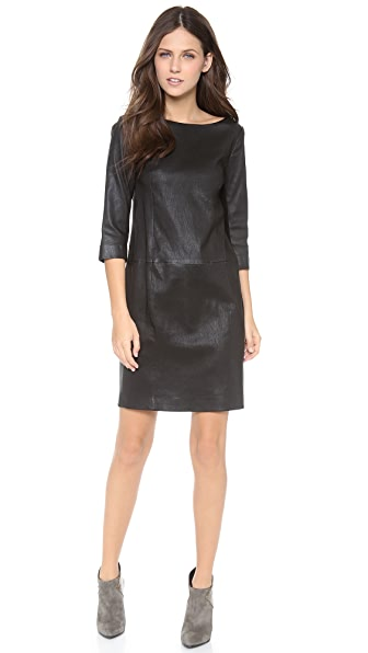 Vince Leather Mini Dress