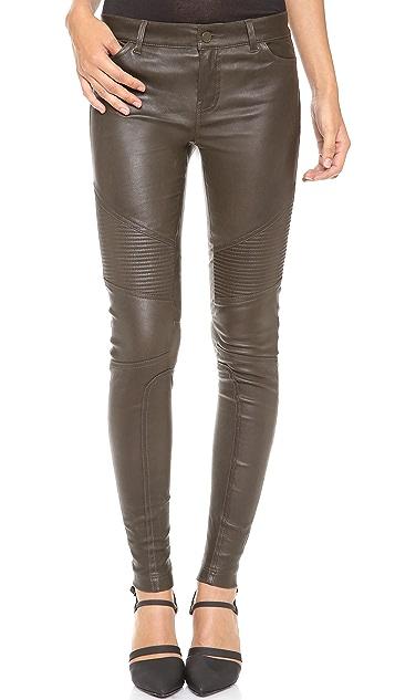 Vince Leather Moto Pants