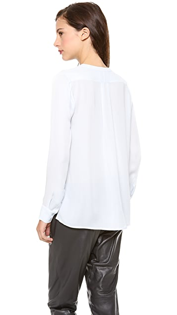 Vince Welt Pocket Blouse
