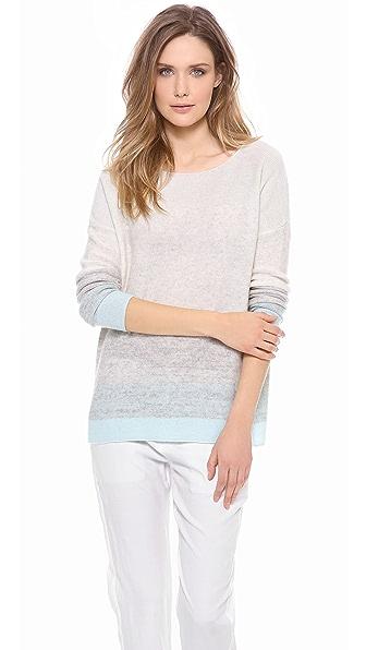 Vince Degrade Stripe Cashmere Sweater