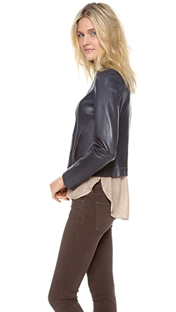 Vince Bonded Leather Jacket