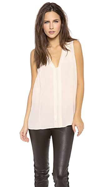 Vince Picot Edge Sleeveless Blouse