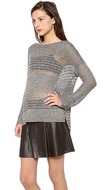 Vince Shadow Stripe Boat Neck Sweater