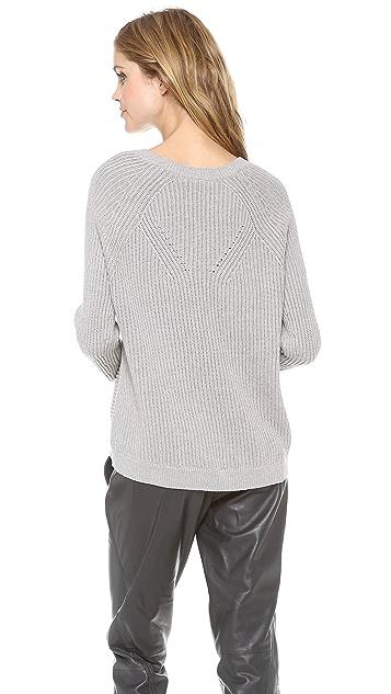 Vince Directional Rib Raglan Sweater