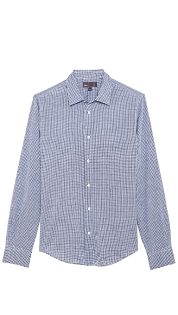 Vince Linen Blend Button Up
