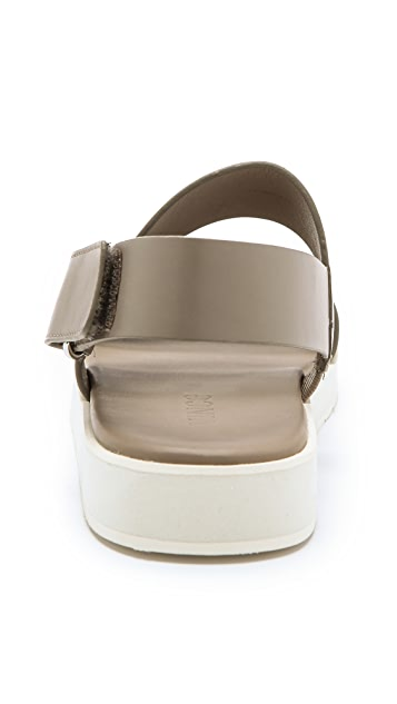 Vince Brennen Two Band Flat Sandals