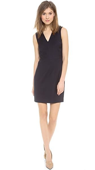 Vince V Neck Fitted Dress