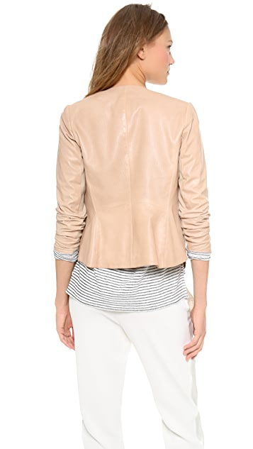 Vince Engineered Perf Leather Jacket