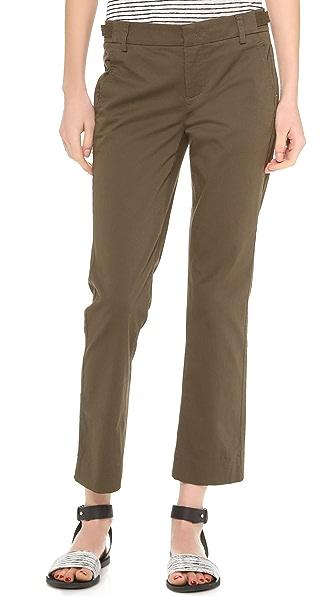 Vince Side Tab Crop Trousers