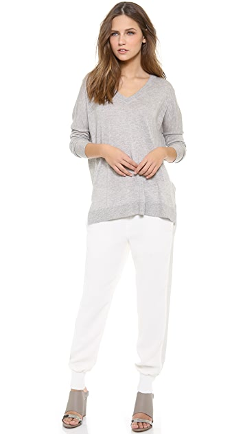 Vince Double V Neck Sweater