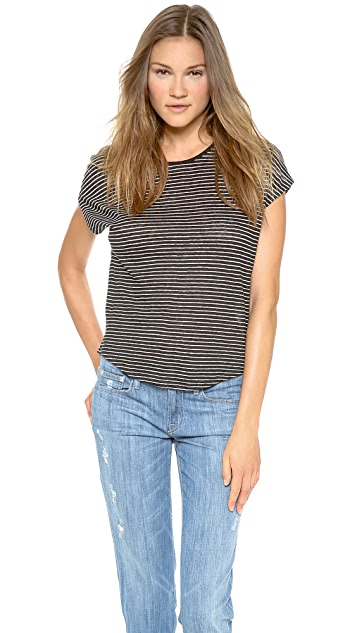 Vince Striped Cocoon Tee