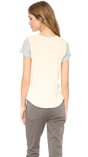 Vince Colorblock Shirttail Tee