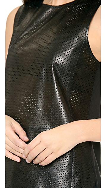 Vince Perforated Leather Shell