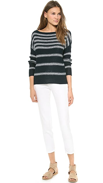 Vince Textured Stripe Sweater