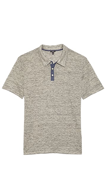 Vince Linen 3 Button Polo