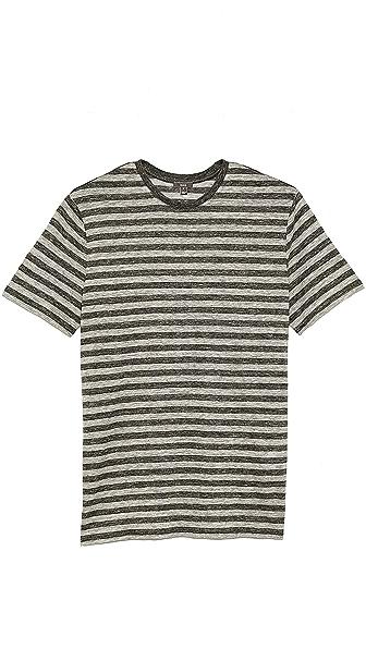 Vince Striped Linen T-Shirt