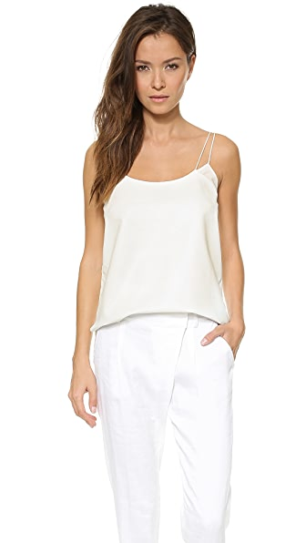 Vince Spaghetti Strap Leather Camisole