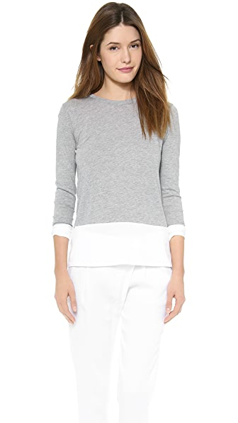 Vince Long Sleeve Colorblock Crew