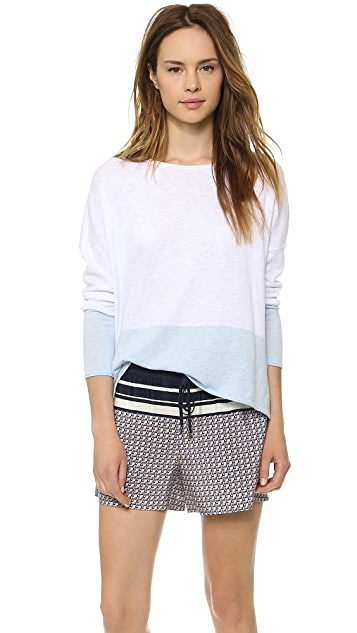 Vince Colorblock Boat Neck Sweater