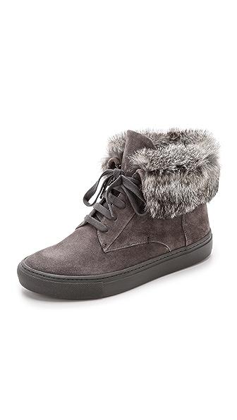 Vince Nyack Fur High Top Sneakers