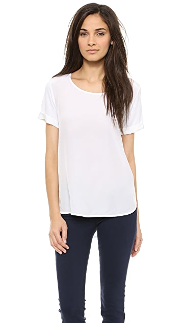 Vince Cap Sleeve Shirttail Tee