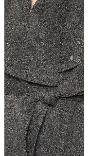 Vince Leather Trimmed Car Coat