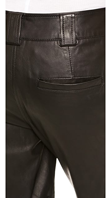 Vince Moto Leather Pants