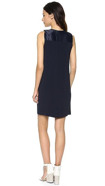 Vince V Neck Matte & Shine Dress