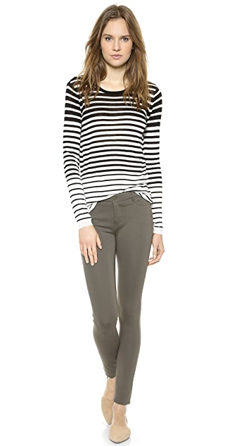 Vince Striped Crew Sweater