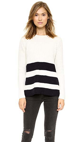Vince Ribbed Stripe Sweater | SHOPBOP