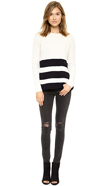 Vince Ribbed Stripe Sweater