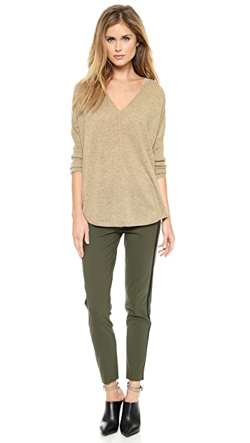 Vince Front Seam V Cashmere Sweater