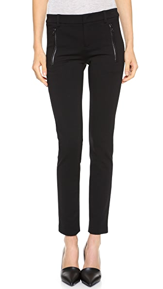 Vince Leather Trim Ponte Trousers