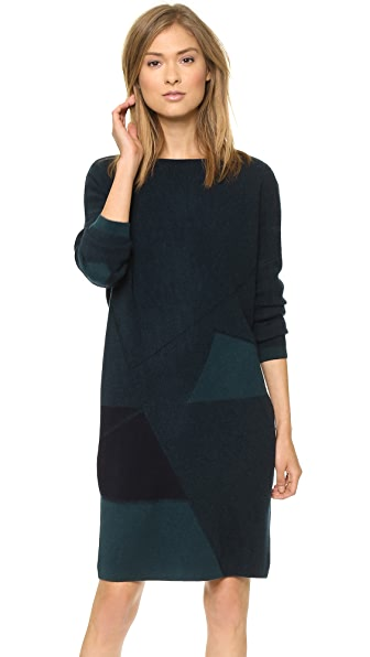 Vince Abstract Jacquard Pullover Tunic