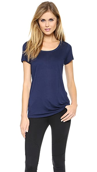 Vince Contrast Scoop Neck Tee