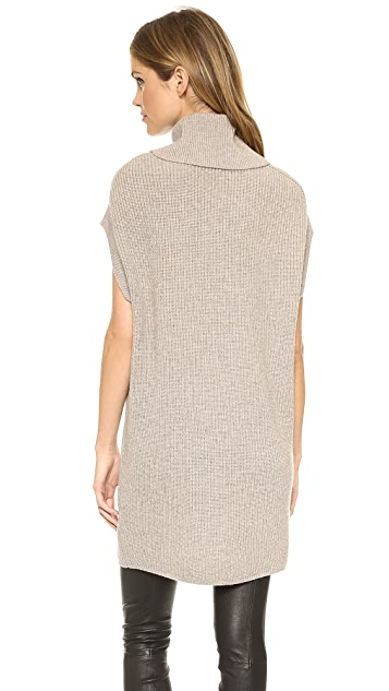 Vince Ribbed Cowl Tunic Sweater