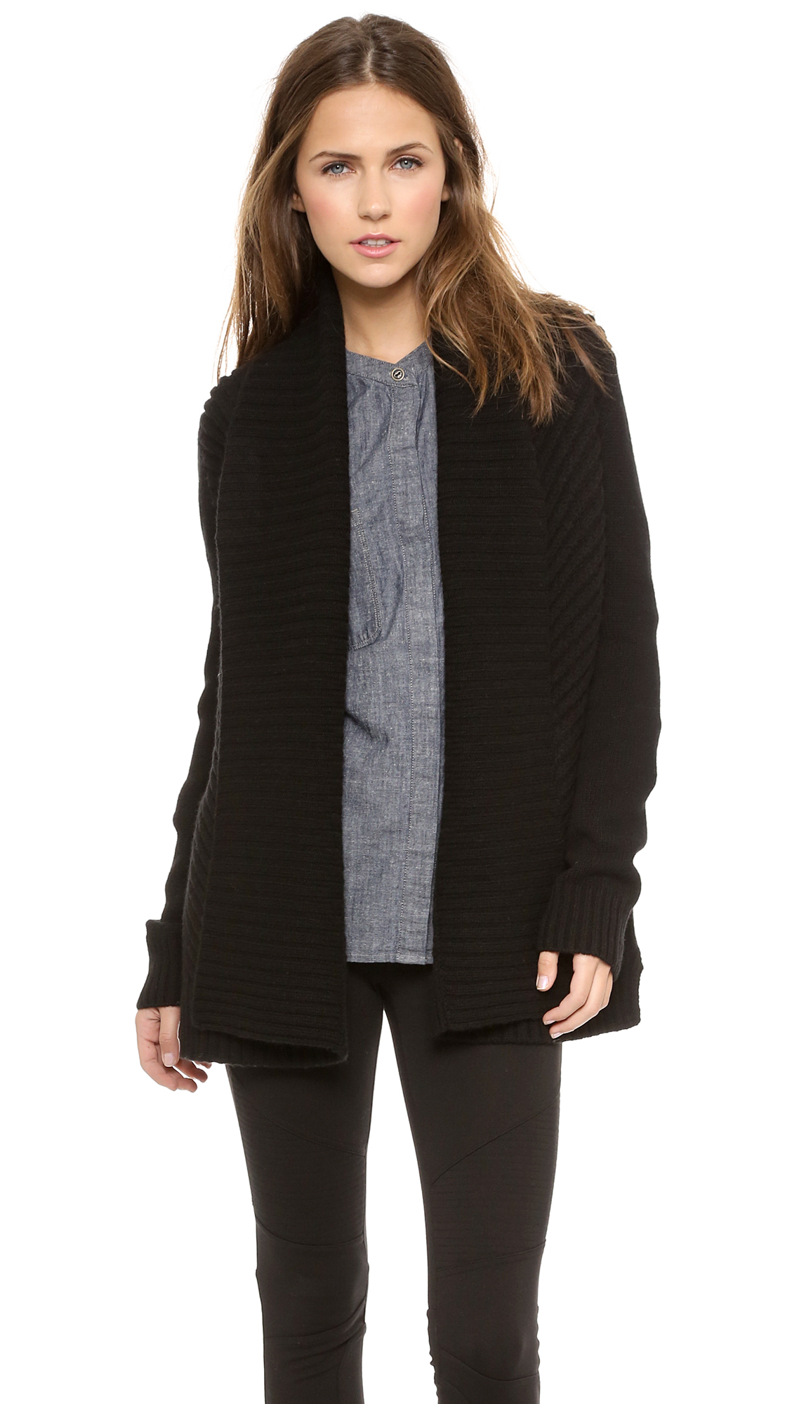 Vince Chevron Shawl Cardigan | SHOPBOP