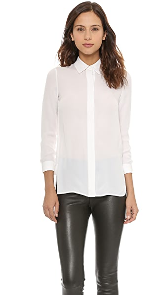 Vince Classic Button Up Blouse