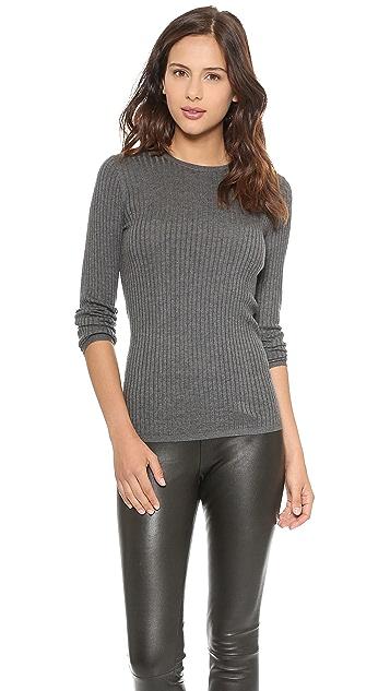 Vince Skinny Rib Crew Sweater