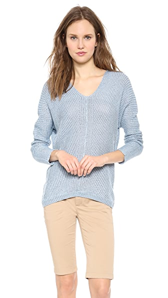 Vince Linen V Neck Sweater
