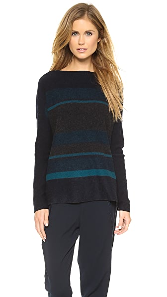 Vince Variegated Marled Boat Neck Sweater