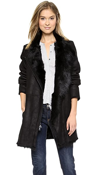 Vince Asymmetrical Shearling Coat