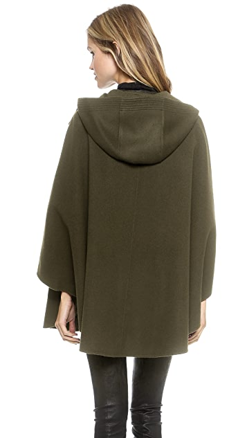 Vince Leather Trim Cape