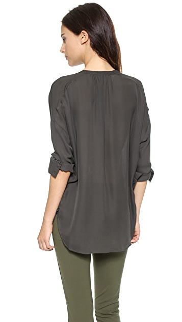 Vince Long Sleeve Popover Top