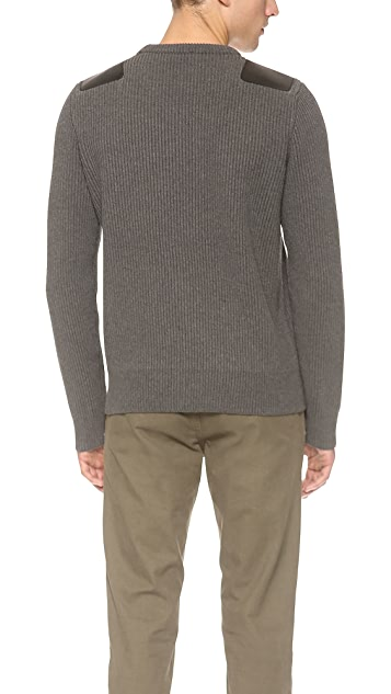 Vince Shoulder Patch Sweater