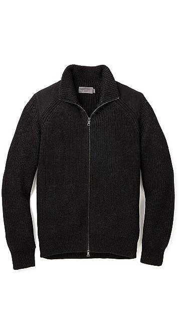 Vince Melton Zip Front Sweater