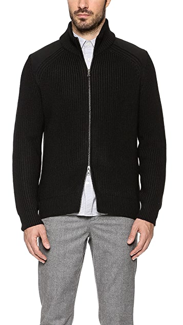 Vince Melton Zip Front Sweater