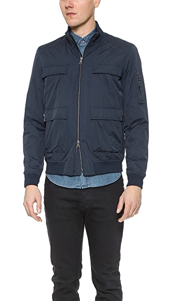Vince Pocketed Flight Bomber Jacket