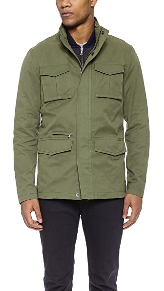 Vince Military 3-In-1 Waxed Cotton Jacket